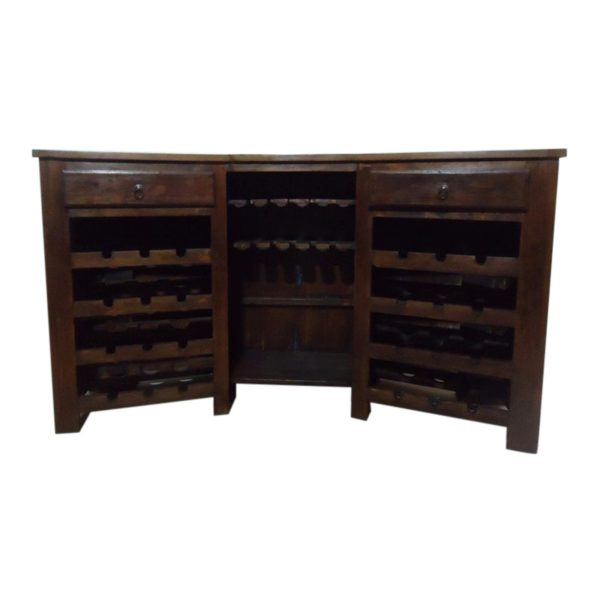 Wooden Bar Counter with Iron and Brass Fitting #RD-BR 01