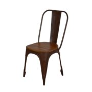 INDUSTRIAL DINING CHAIR TEAK TOP