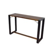 INDUSTRIAL CONSOLE TABLE WOODEN TOP