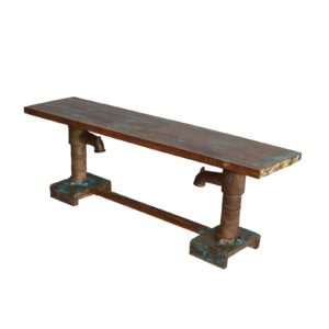 HAND PUMP BENCH RECLAIMED WOOD TOP