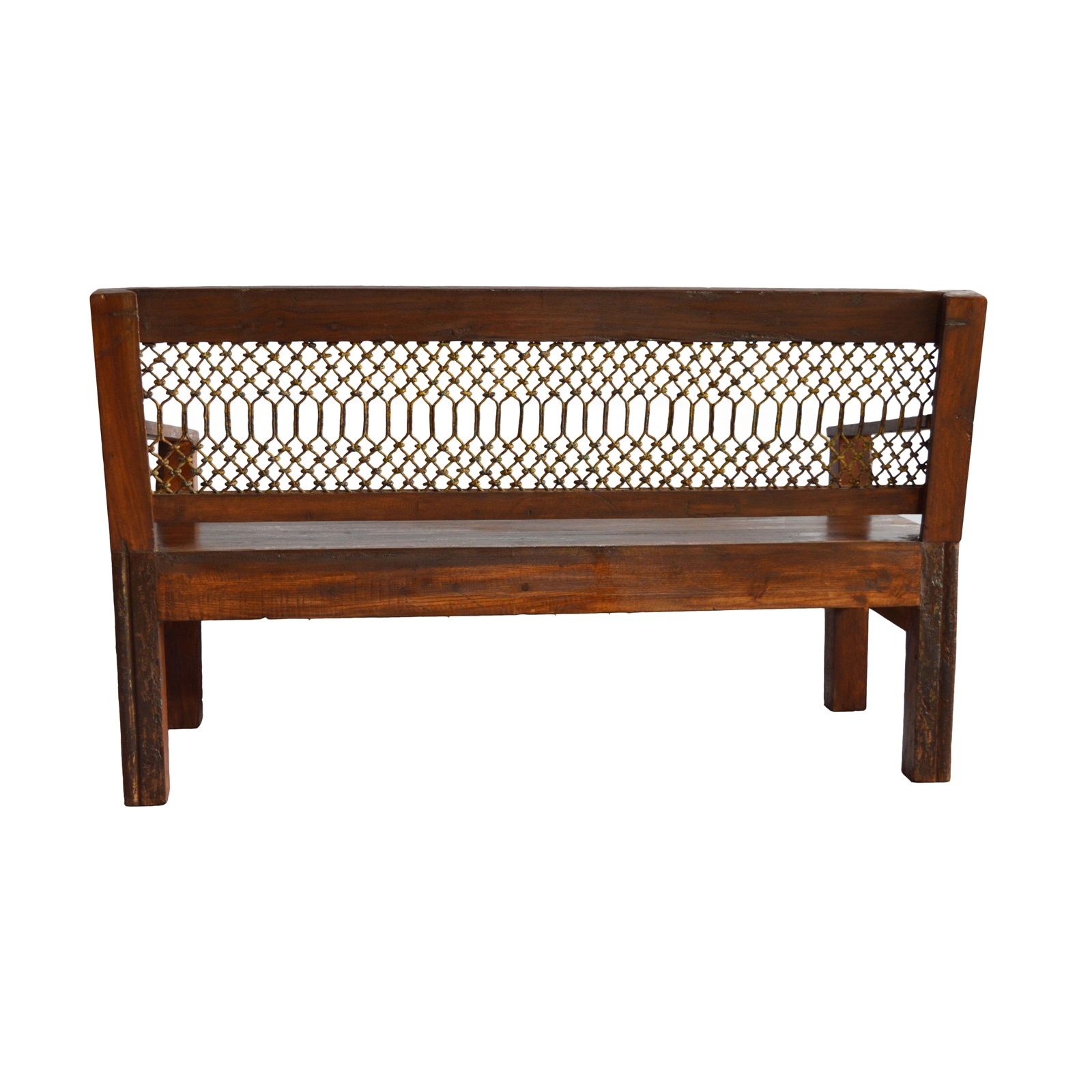 OLD TEAK WOOD WITH IRON GRILL SOFA SET