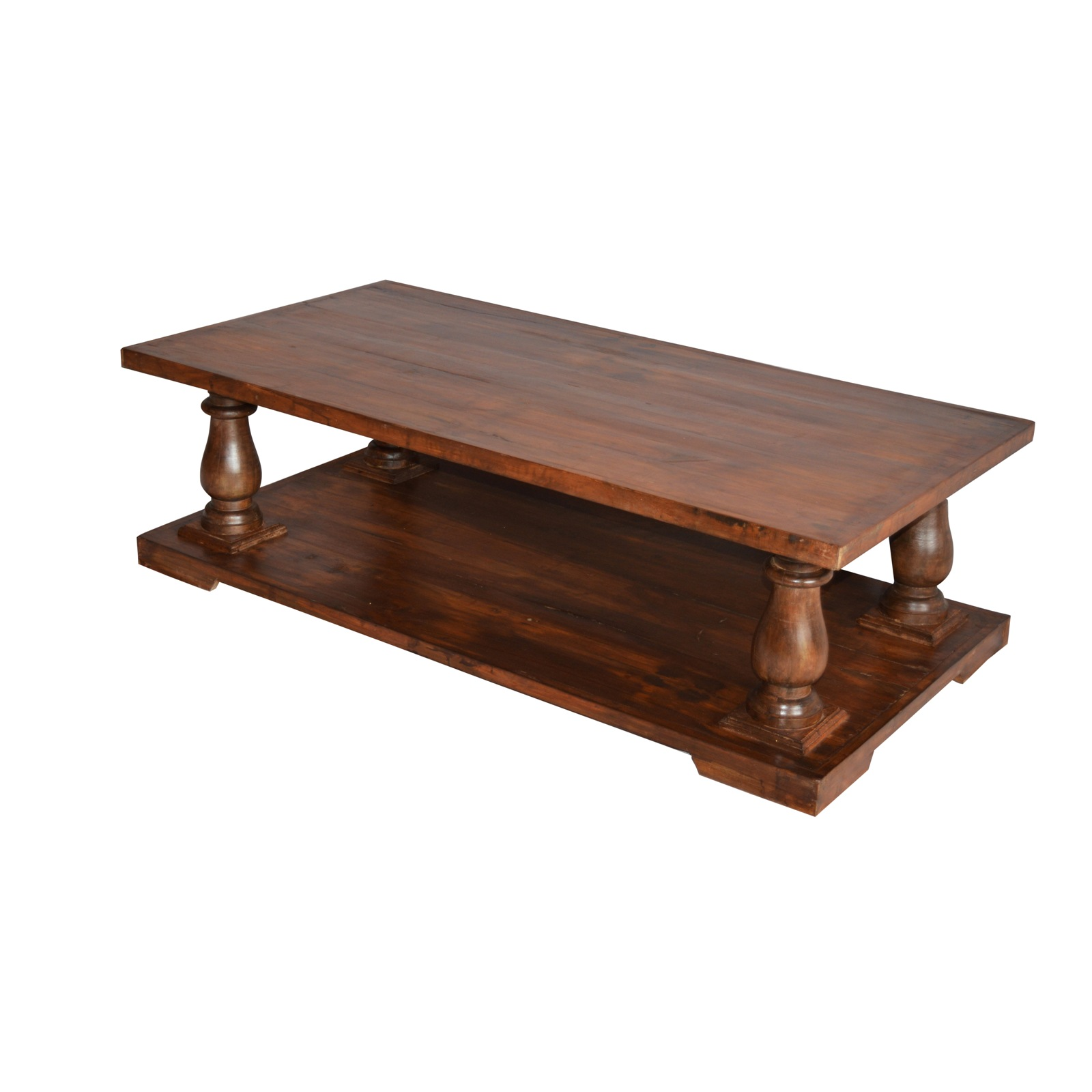 Wooden Coffee Table Old Teak Wood Top Indian Furniture
