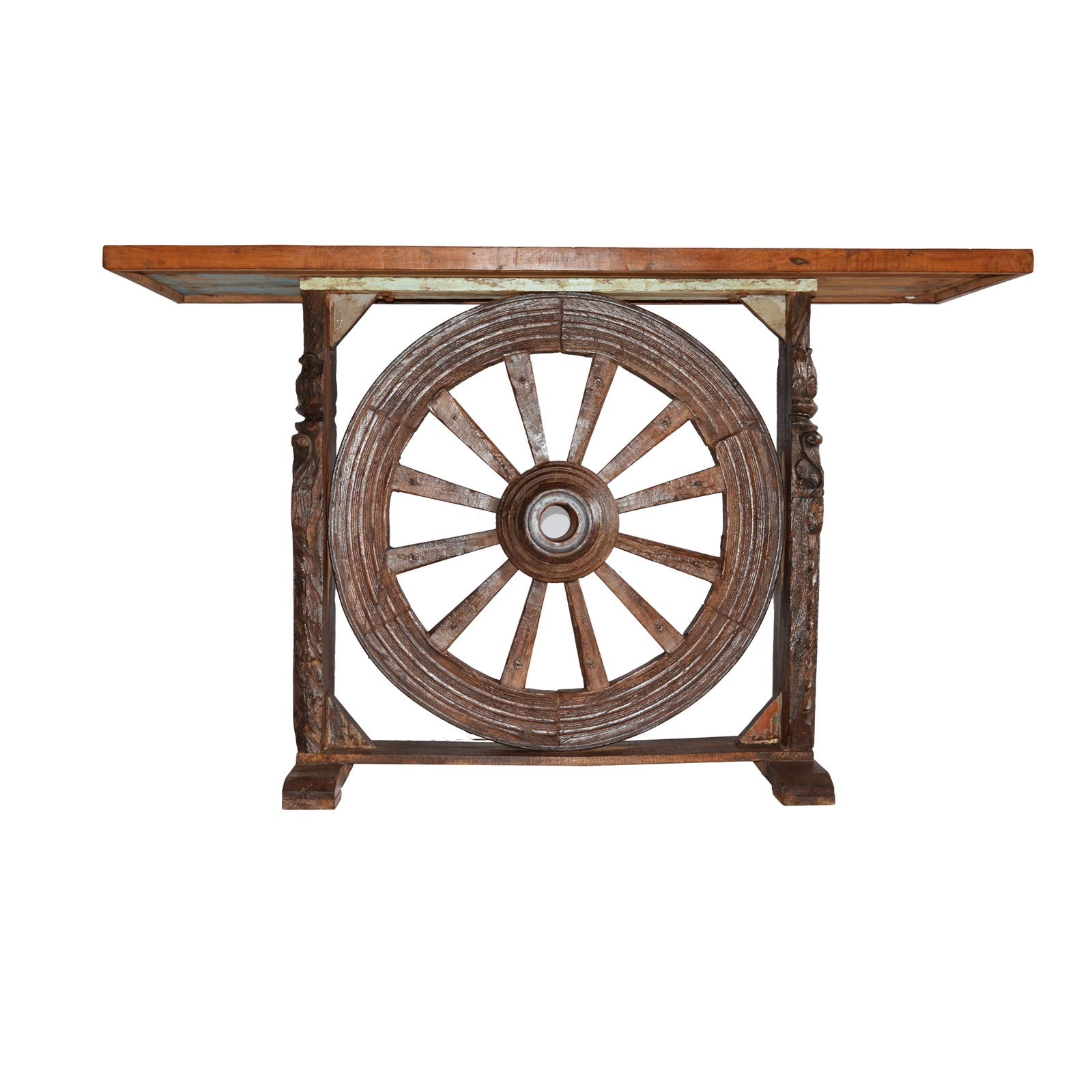 wheel console table indian furniture zone by ramdev art exports. Black Bedroom Furniture Sets. Home Design Ideas